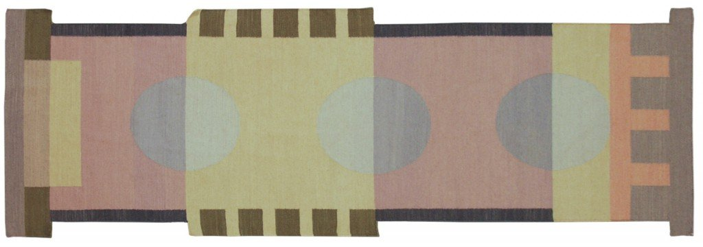 3x 9 Modern Dhurrie Rug Runner designed by David Nicholls