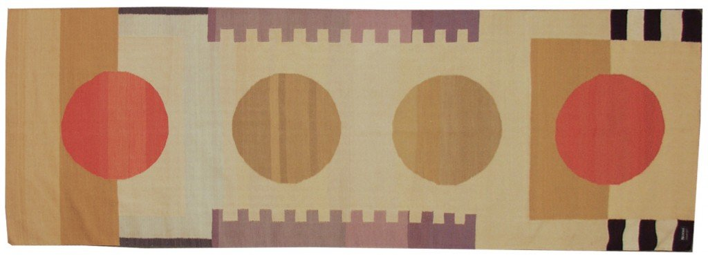 4×12 Modern Dhurrie Rug Runner designed by David Nicholls