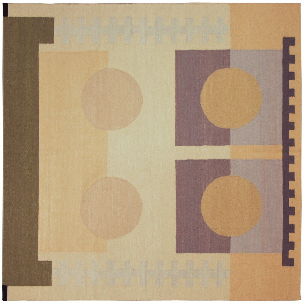 10×10 Modern Dhurrie Square Rug designed by David Nicholls