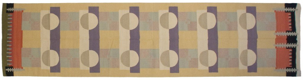 4×16 Modern Dhurrie Rug Runner designed by David Nicholls