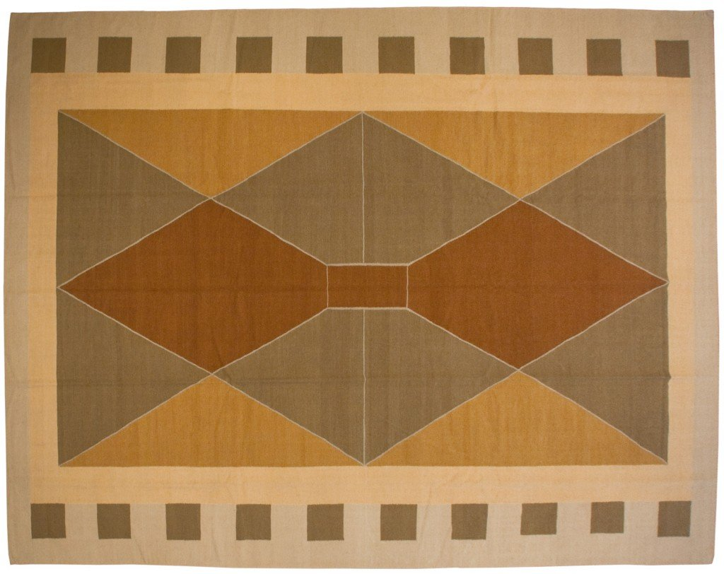 11×14 Modern Dhurrie Rug designed by David Nicols