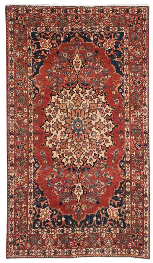 5×7 Persian Baktiari Red Oriental Rug