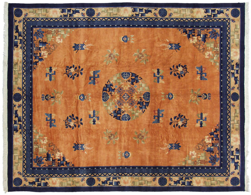 12x15 Antique Finish Chinese Peking Design Rug