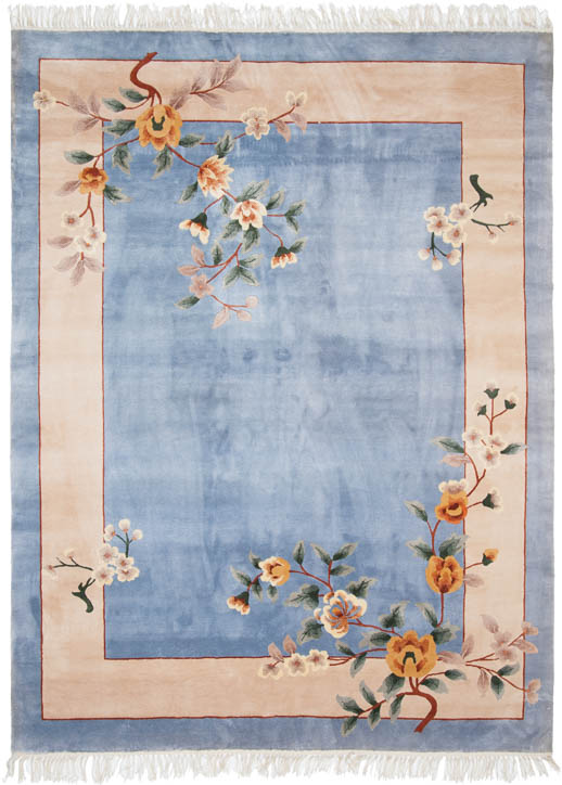 6×8 Chinese Blue Oriental Rug