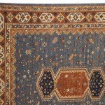 Blue Field and Rust border Armenian Rug 8x10
