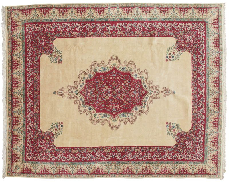 12x15 Medallion / Open Field Persian Kerman Design Rug