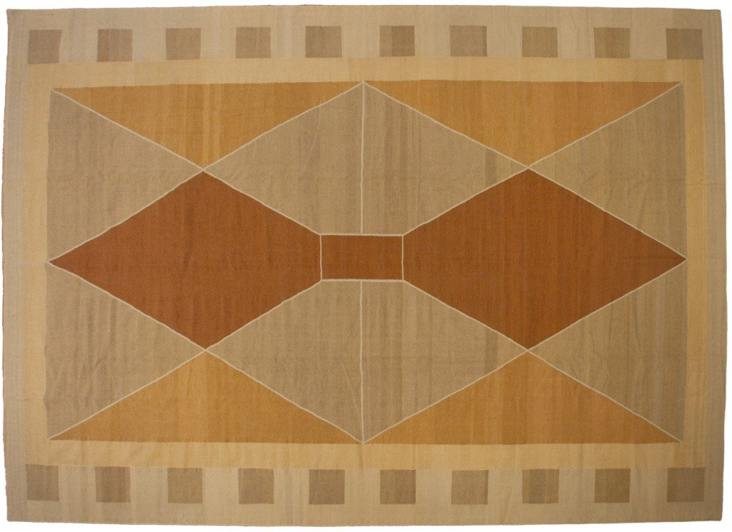 12×18 Modern Dhurrie Rug designed by David Nicols