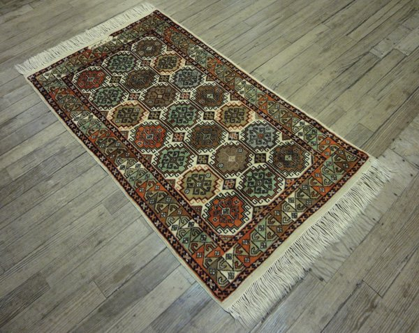 3x5 Vintage Hand-Knotted Oriental Rug