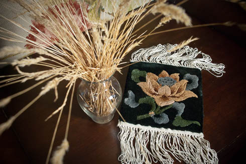 All-Silk Rug Mat - Lotus Flower- Stocking Stuffer, Hostess Gift, Present