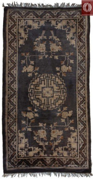 Antique Chinese Rug Charcoal