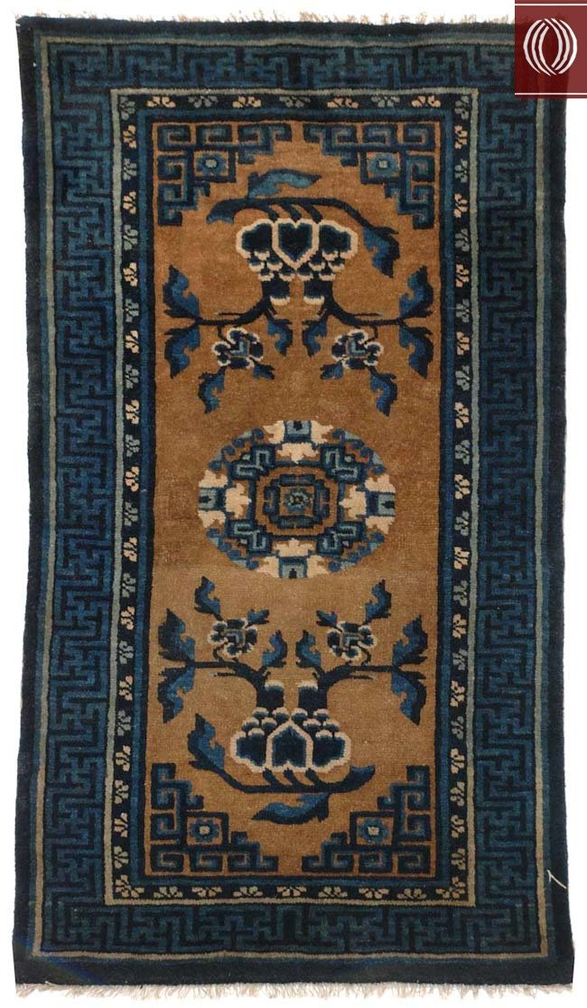 Antique Chinese Area Rug Bronze Blue 021372 Dilmaghani