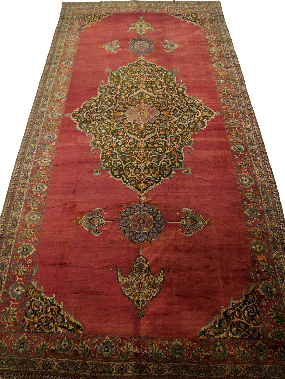 19' x 43' Large Oversized Antique Palace Rug