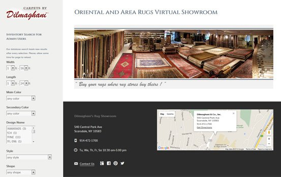 Oriental Rugs Virtual Showroom