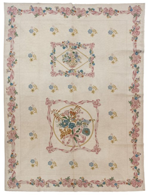9×12 Vintage Chain Stitch Rug - Sale Price $540 - Original Price $2700
