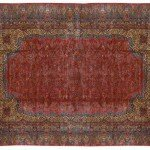 14' x 26' Large Persian Kerman Carpet