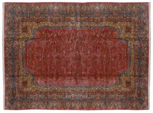 14' x 26' Large Persian Kerman Carpet