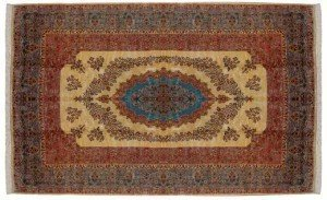 14' x 21' Large Persian Kerman Carpet