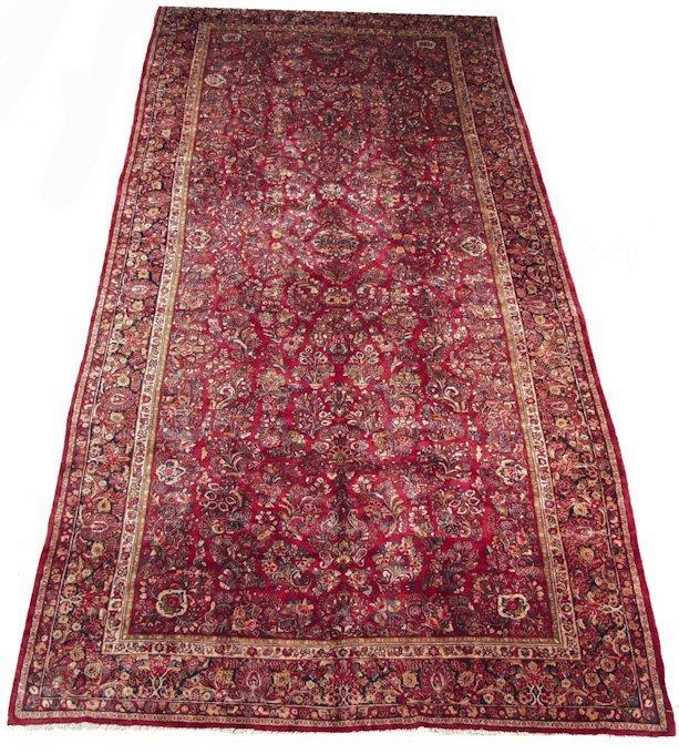 11' x 24' Large Persian Sarouk Oversized Carpet