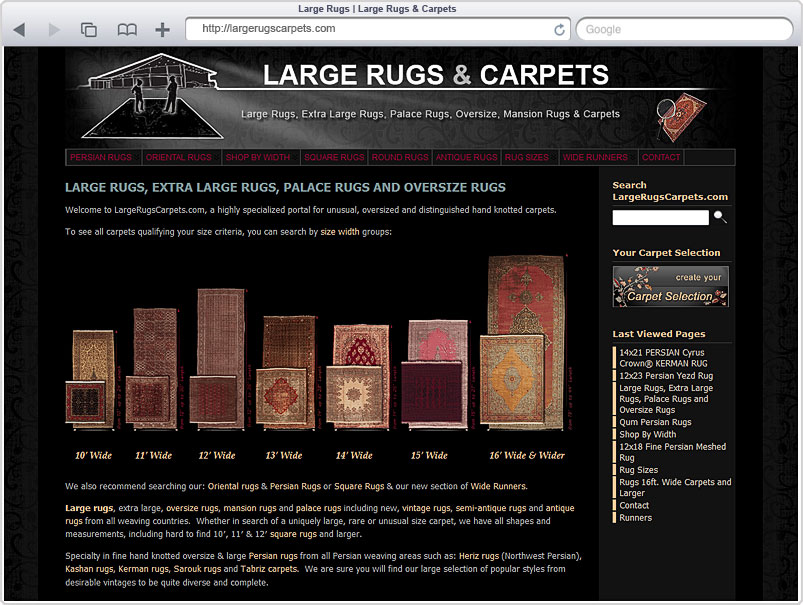 Dilmaghani Oversize Rugs Website